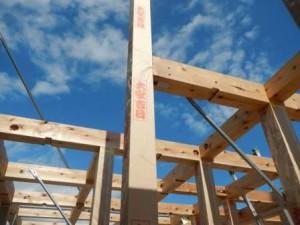 建設中の住宅